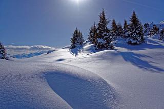 Les Bauges sous la neige