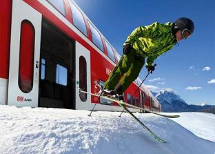 stations de ski accessibles en train