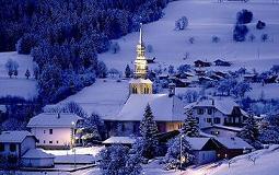 Combloux, station de ski au pied du Mont-Blanc