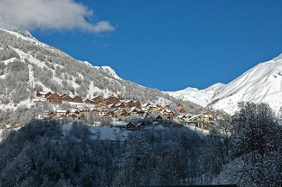Vaujany, un village avec un accès au grand domaine de l'Alpe d'Huez